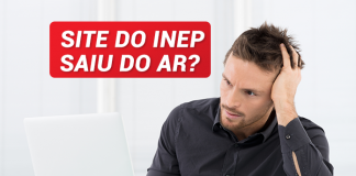 site inep fora do ar