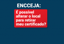Quero alterar retirada do certificado Encceja